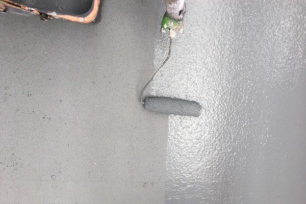 岡山県浅口市 外壁塗装 防水工事 ウレタン防水密着工法