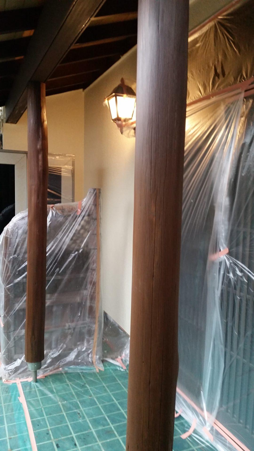岡山県倉敷市 外壁塗装 木部補修〜塗装 木部塗装の画像