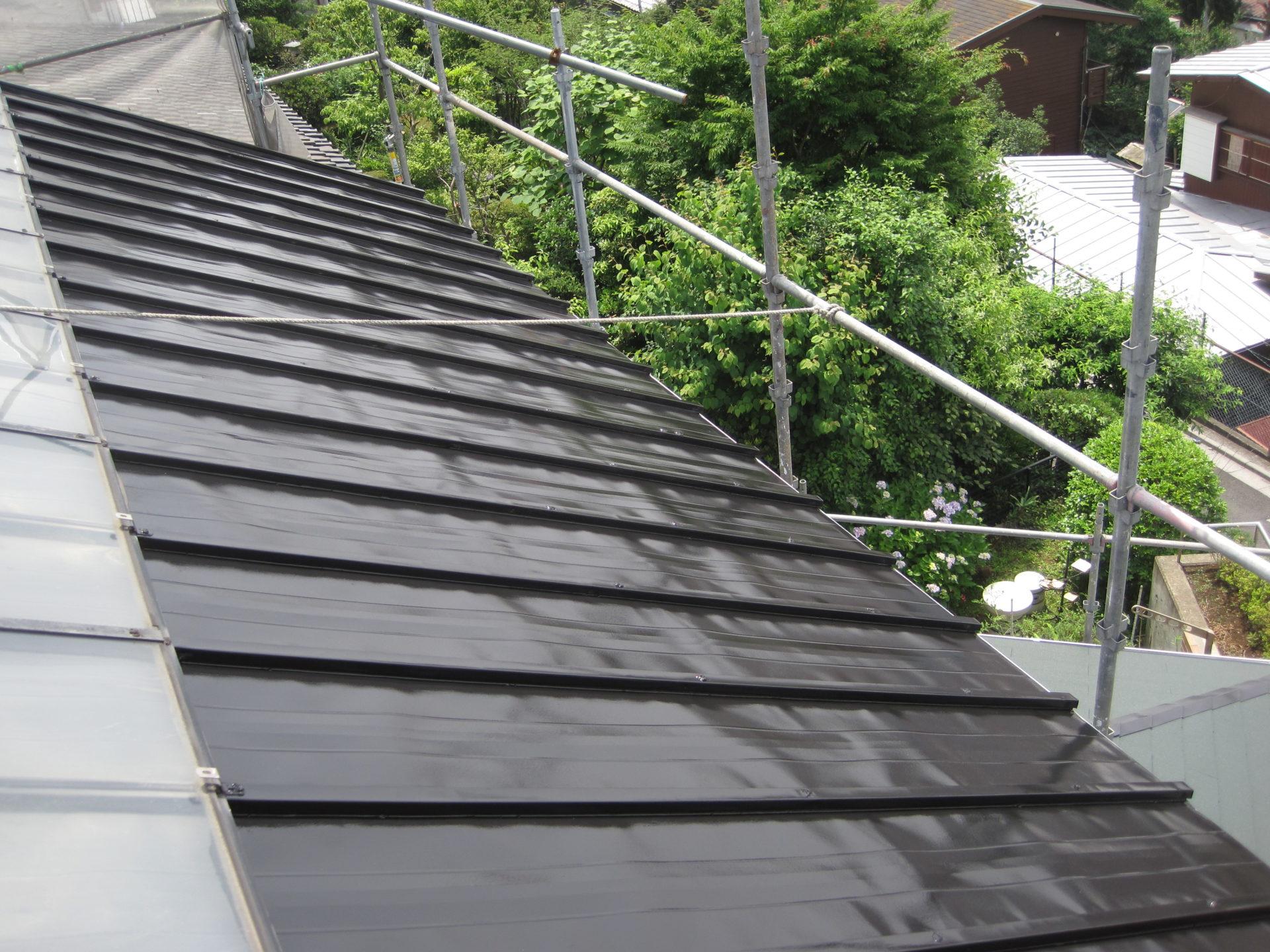 岡山県岡山市 瓦棒屋根塗装 完成写真