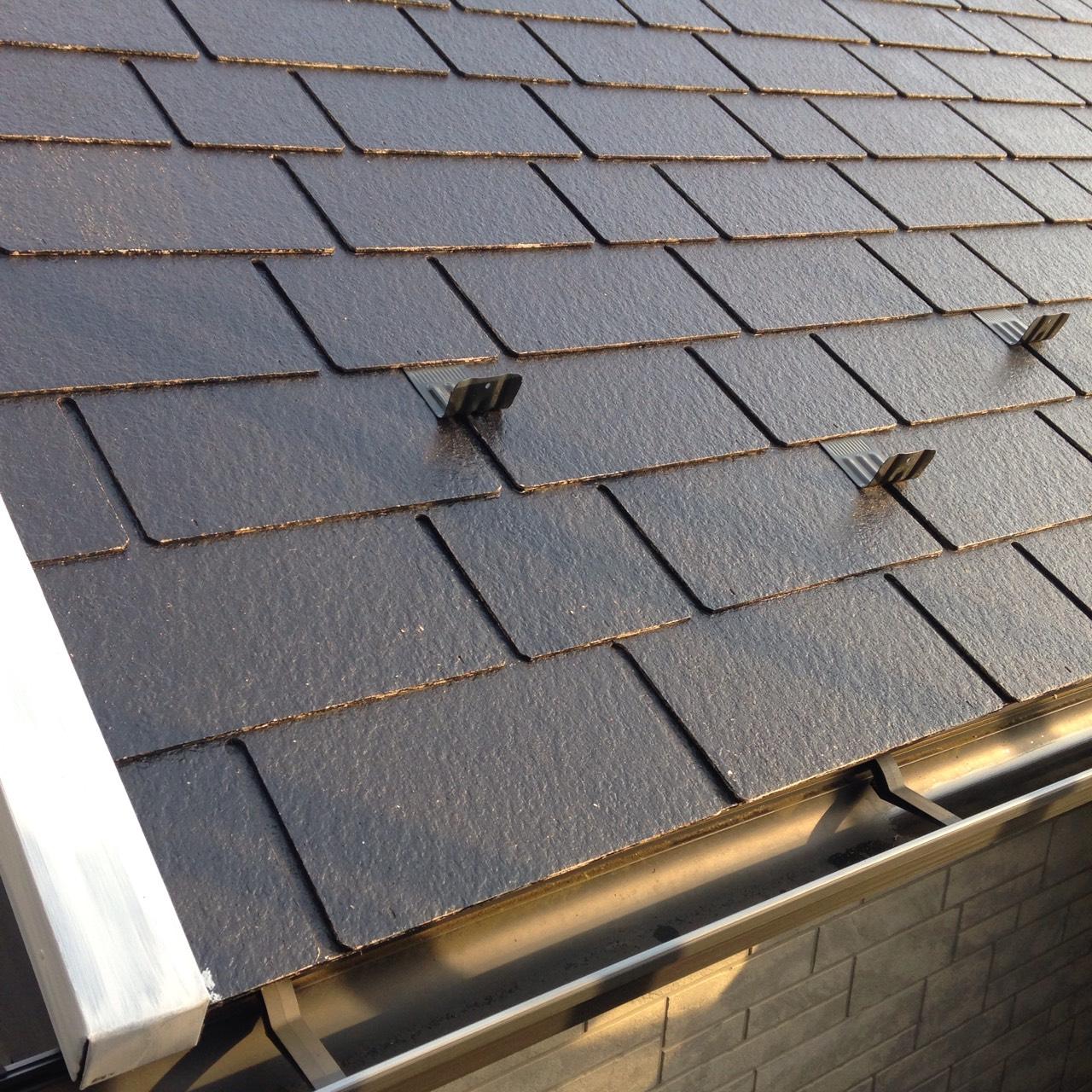 岡山県倉敷市 屋根・板金塗装工事 屋根塗装完成の画像