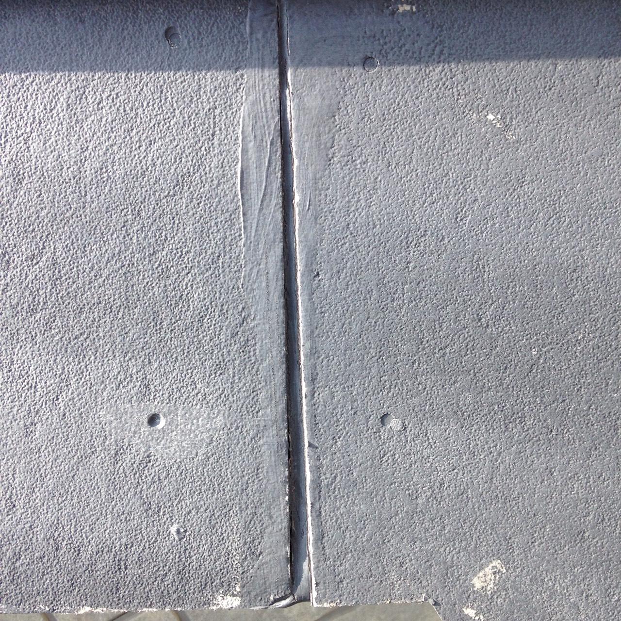 岡山県倉敷市屋根工事 破風板目地の画像